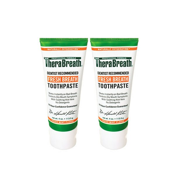 therabreath tooth paste twin pack