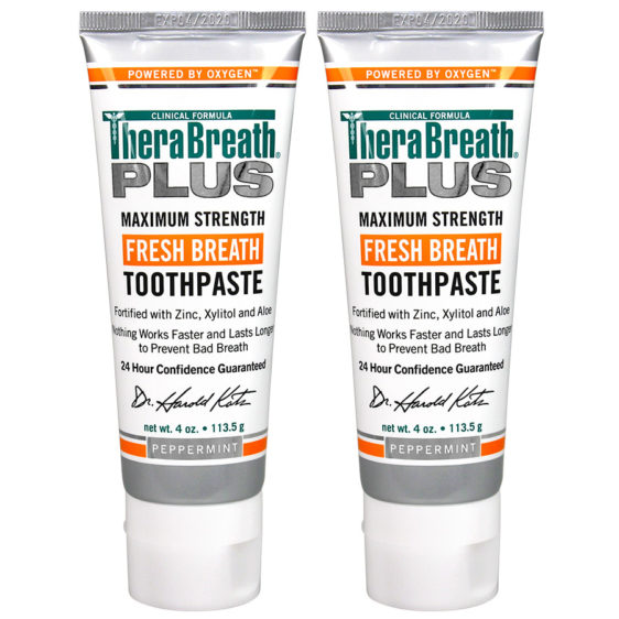 therabreath plus tooth paste twin pack